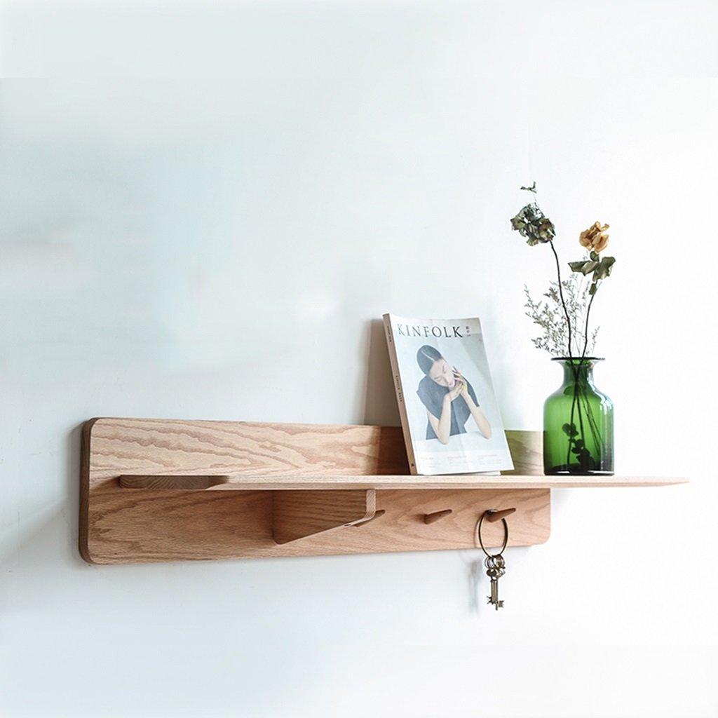 ANDEa フック現代の壁の棚とTの純粋な固体の木製のパーティションシェルフ 独創性 ( 色 : A , サイズ さいず : 1.2m ) B06Y6545RV A 1.2m