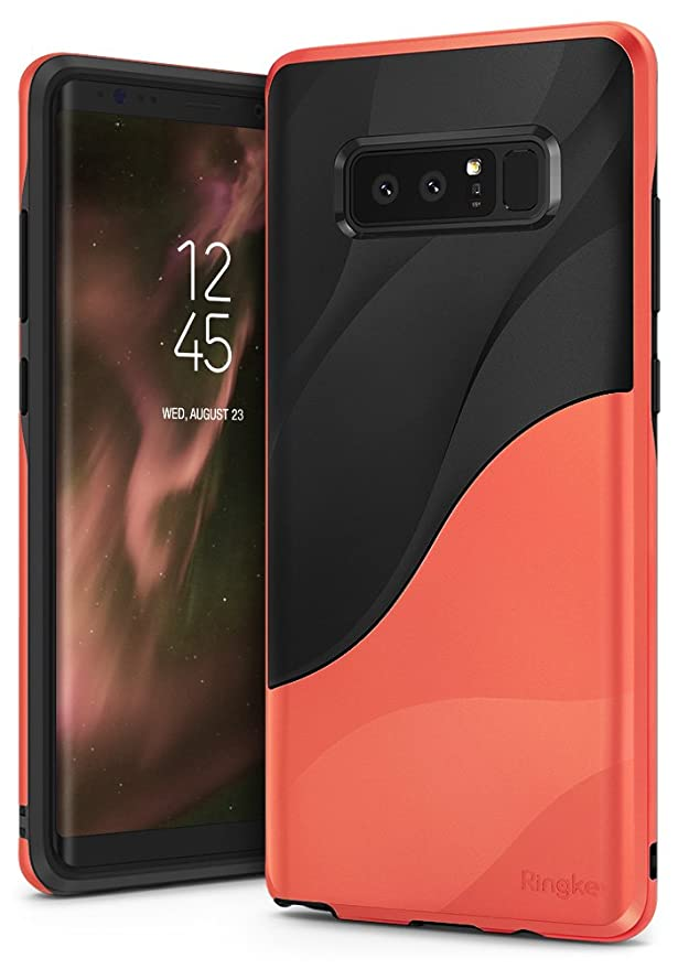 2 opinioni per Ringke Cover Galaxy Note 8, Wave [Radical Orange] Dual-Layer Tessuto Pesante