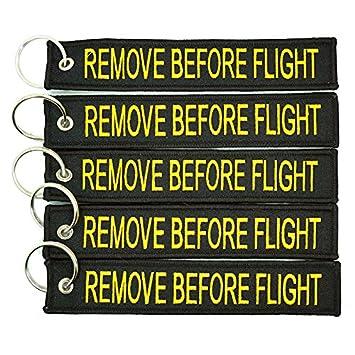 Apex/Imports Apex Imports 1x Remove Before Flight Black//Yellow Key Chain