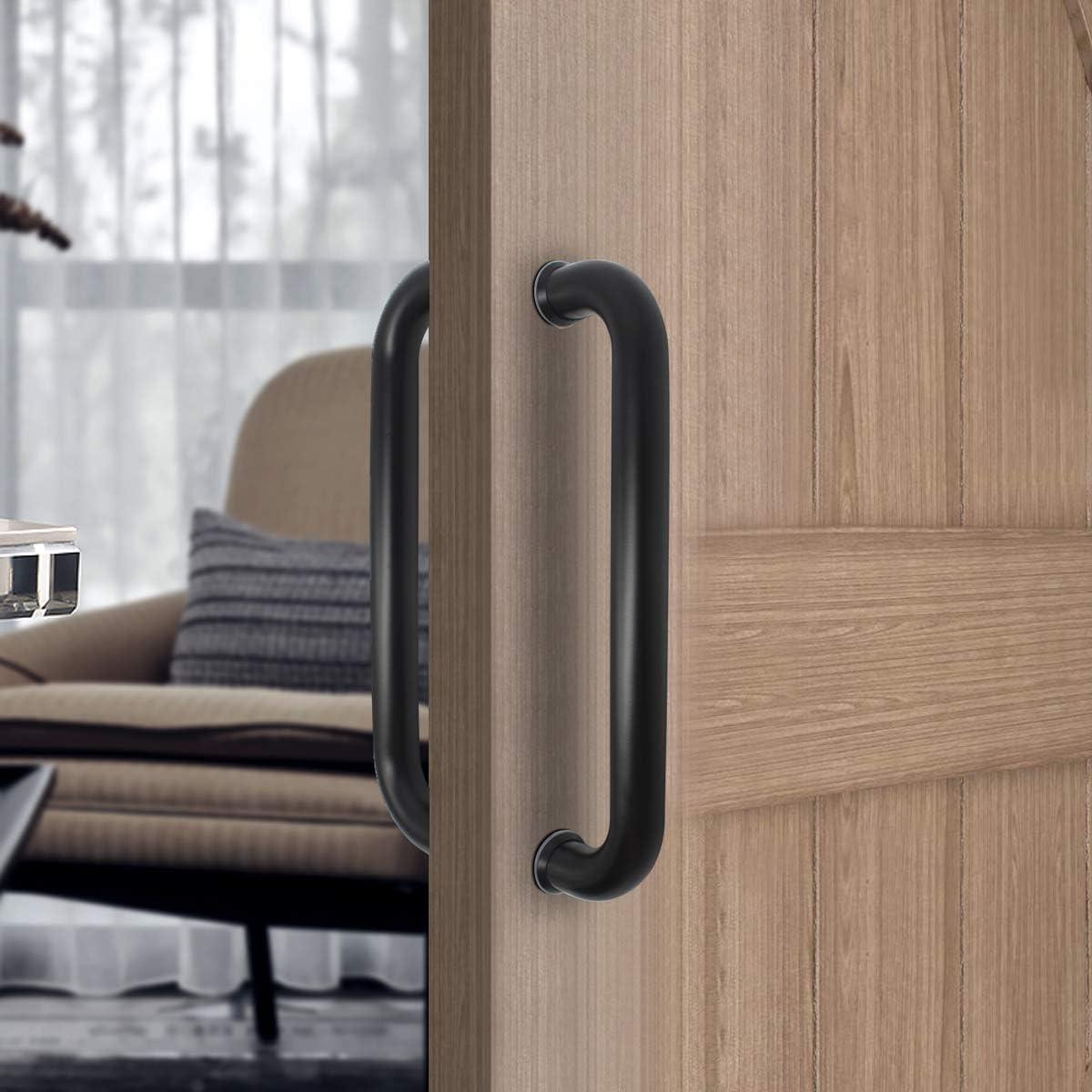 Stainless Steel Wood Door Pull Handle Set Double Side Bar Handle