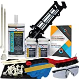 Concrete Foundation Crack Repair Kit - Ultra-Low Viscosity Polyurethane - FLEXKIT-1150-10