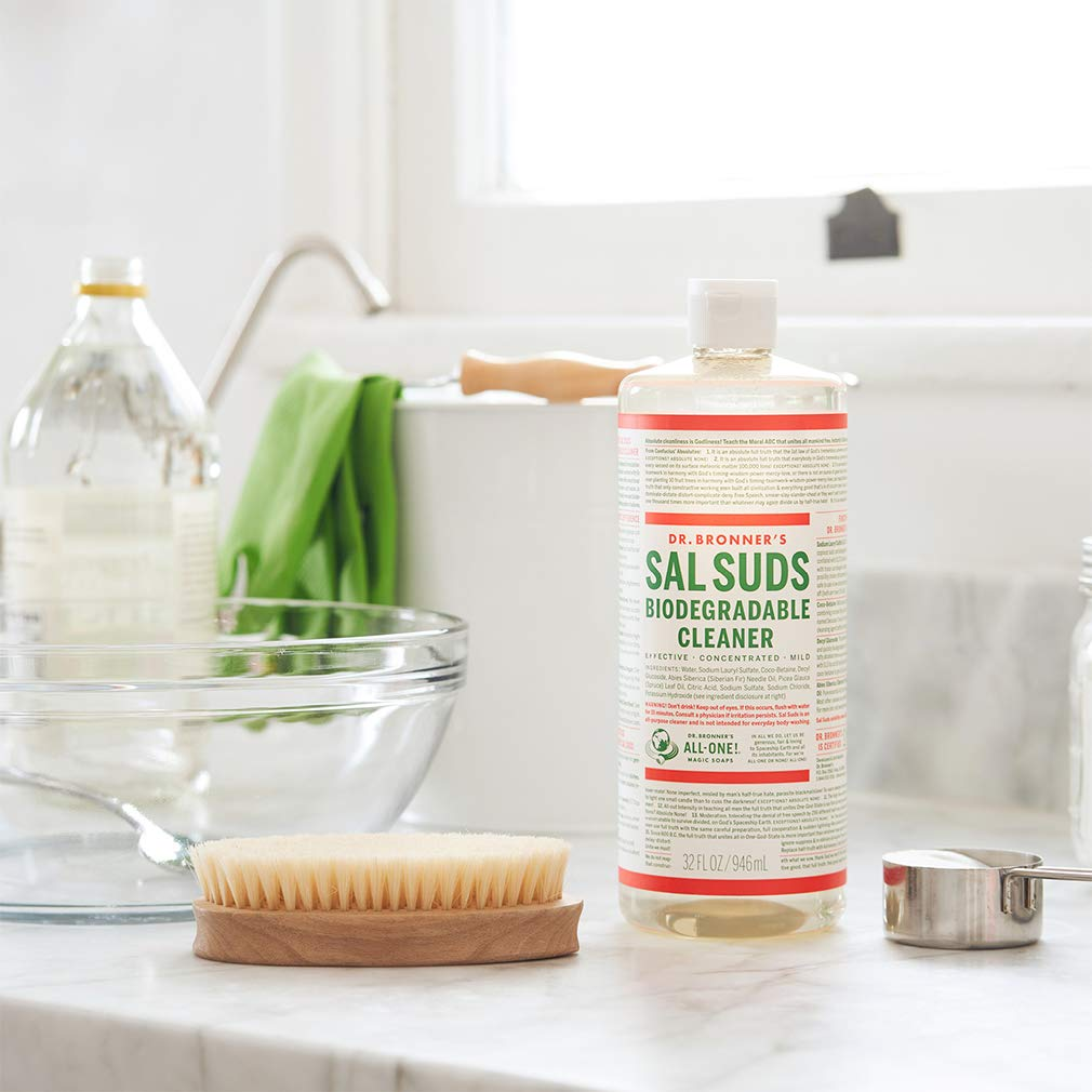 Dr. Bronner's - Sal Suds Biodegradable Cleaner (1 Gallon) - All-Purpose Cleaner, Pine Cleaner for Floors, Laundry and Dishes, Concentrated, Cuts Grease and Dirt, Powerful Cleaner, Gentle on Skin by Dr. Bronner's (Image #2)