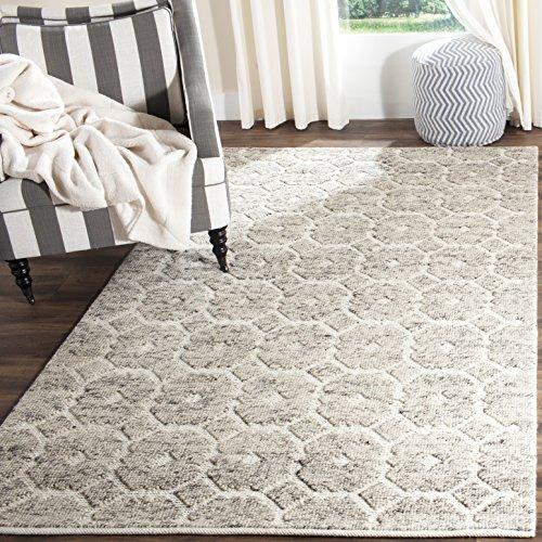 (Safavieh Martha Stewart Collection MSR2560A Premium Wool Grey and Ivory Area Rug (4' x 6'))