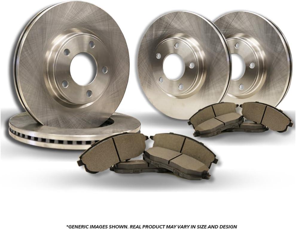 Front+Rear Kit Fits:- 2006 06 Dodge Caravan w//Rear Disc Brakes 4 High-End OEM Replacement Brake Rotors + 8 Semi-Metallic Pads