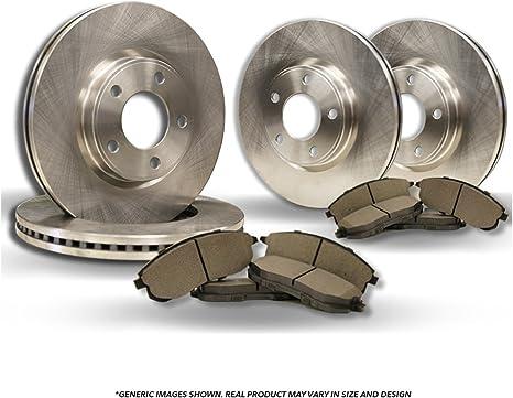 High-End Front+Rear Kit Fits:- 3 3 Sport 4 Black Coated Cross-Drilled Disc Brake Rotors 8 Ceramic Pads 5lug