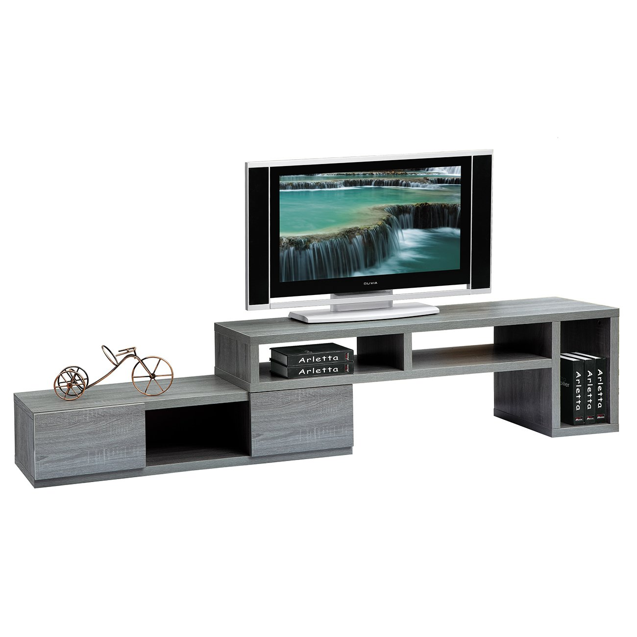 Techni Mobili Adjustable TV Stand Console for TV s up to 65