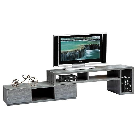 Techni Mobili Gray - Soporte para televisor (Regulable, para ...