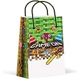 Premium Pixel Party Bags, Video Game,Treat Bags,Gamer Party, New, Gift Bags,Goody Bags, Pixel Party Favors, Pixel Party Suppl