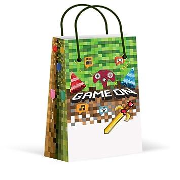 Amazon.com: LARZN Premium Pixel Bolsas de Fiesta, Videojuego ...