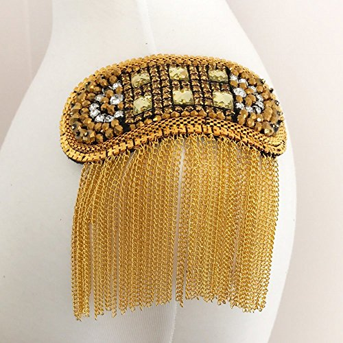 Metal Bling Epaulet by Shinetrim (Applique Epaulet)