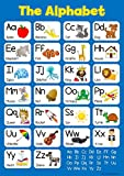 Learn The Alphabet - Blue Childrens Wall Chart Educational Numeracy Childs Poster Art Print WallChart