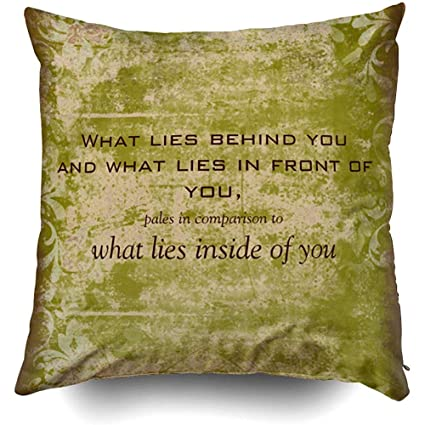 Amazon.com: Vintage Emerson Quote Cushions Case Throw Pillow ...