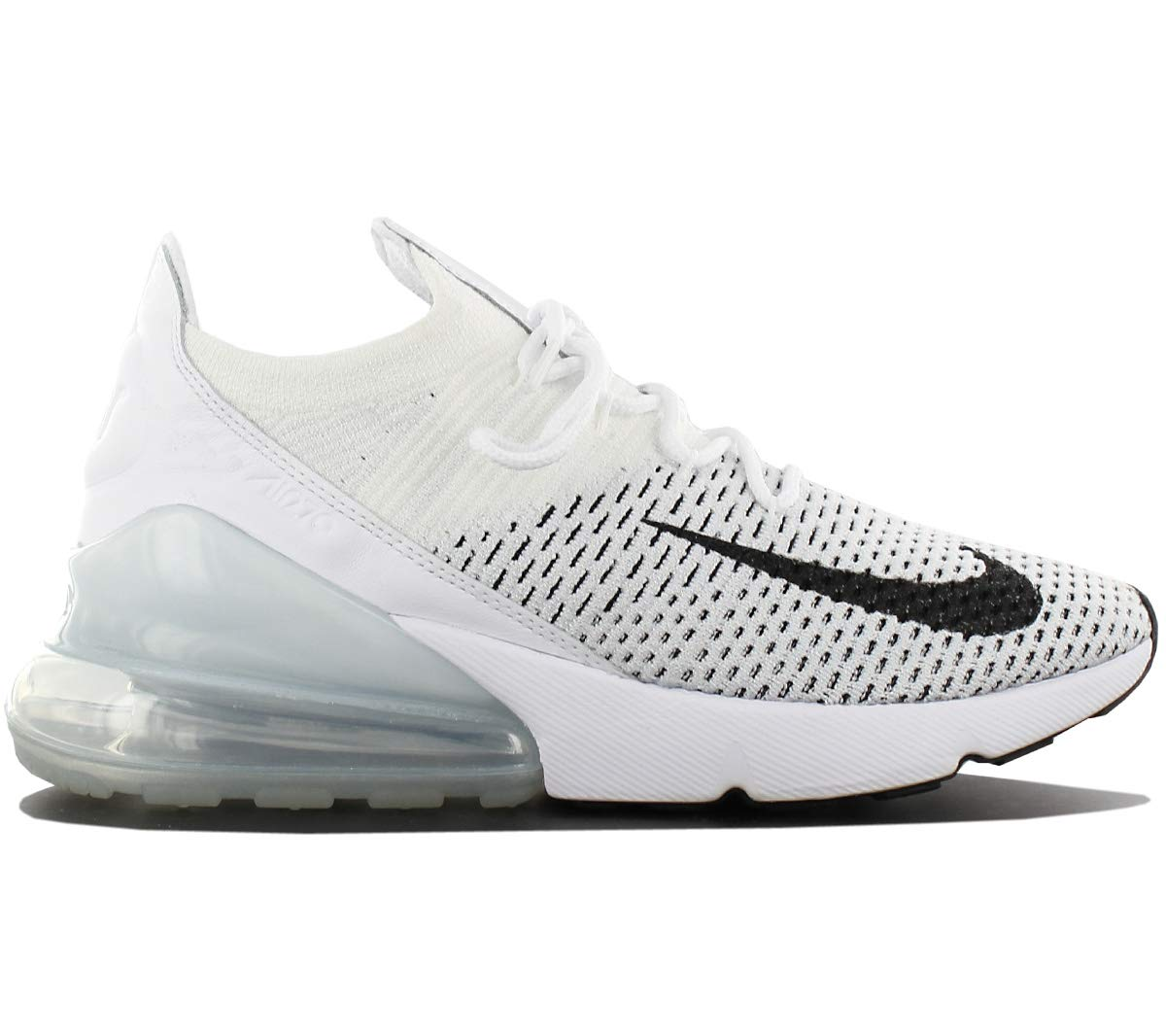the latest 7a831 8585f Nike Air Max 270 Flyknit Women's Shoes White/Black ah6803-100 (9 B(M) US)