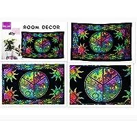 Future Handmade Twin Size Nature tapestry Sun Moon Stars Mandala Tapestry Living Home Decor Bed Sheet Indian Handmade…