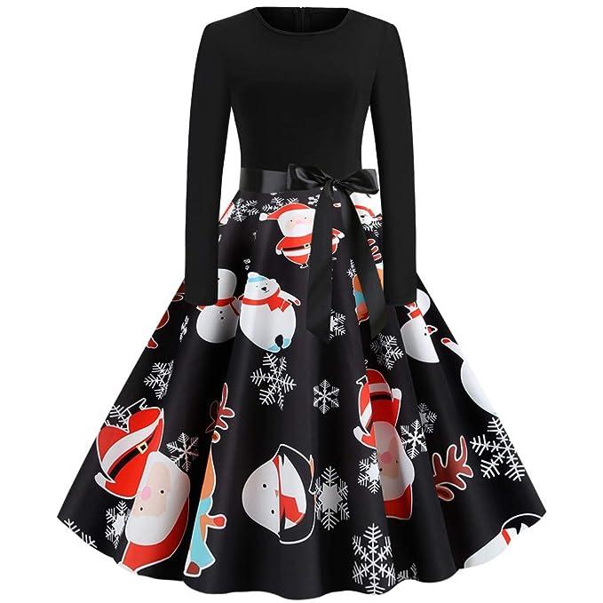 Darringls Vestidos para Mujer Navidad, Mujeres Deshuesado ...