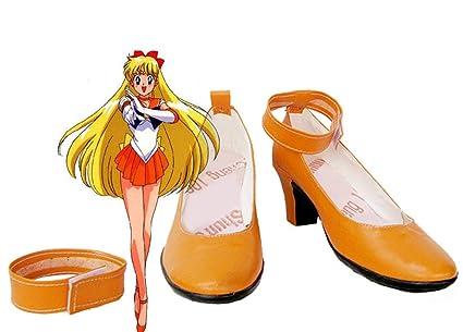 Sailor Moon Sailor Venus Minako Aino Cosplay Shoes Boots Custom Made