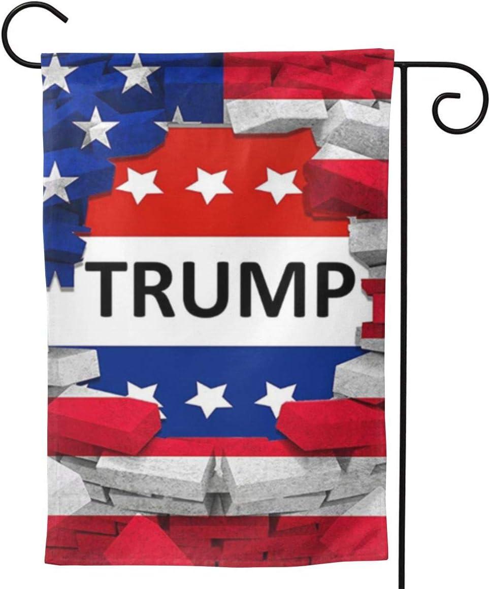 UTWJLTL Garden Flag American USA Trump Flag Decorative Flag Double Sided 12.5