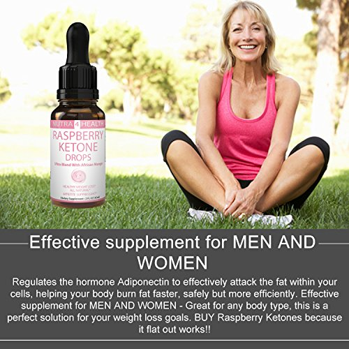 Raspberry Ketones DROPS Liquid Control Hunger Weight Loss Supplement Appetite Suppressant Naturally Formulated Fat Burner Diet Plan Quick Weight Loss African Mango, Maca & Garcinia Cambogia (2 FLOz)