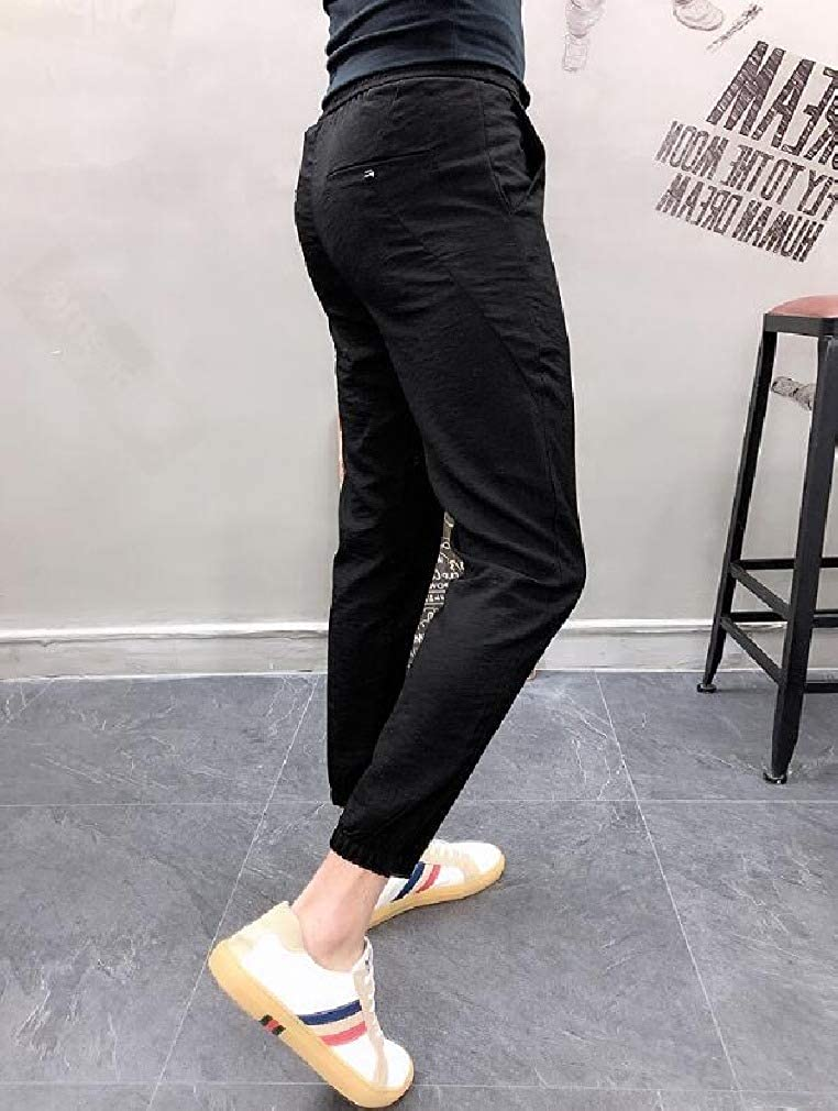 Coolred-Men Solid Vogue Slim Casual Leisure Pockets Stretch Jogger Pants