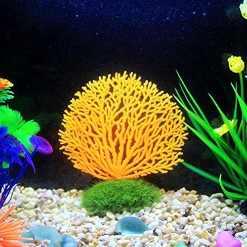 Paleo Coral de simulación lecho marino paisaje de coral pecera adornos tanque de peces de acuario decoración simulada: Amazon.es: Hogar