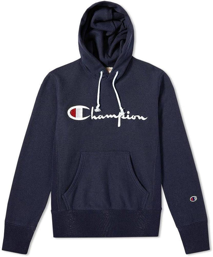 Champion Reverse Weave Hooded Sweatshirt, Hombre, Azul (NNY ...
