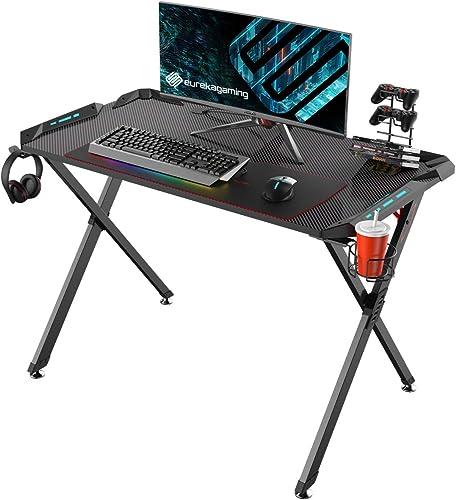 EUREKA ERGONOMIC Gaming Computer Desk 45″ PC Gamer Table Review