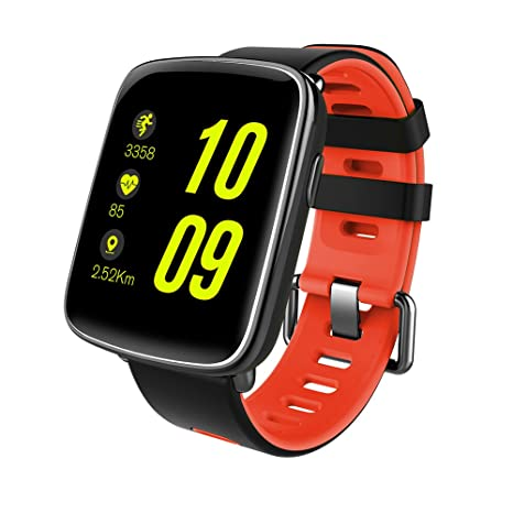GFT GV68 Smart Watch with 1.54 inch TFT HD LCD Display and Silicone Strap,Support Ver 4.0 Bluetooth IP68 Waterproof Bluetooth Smartwatch Compitable ...