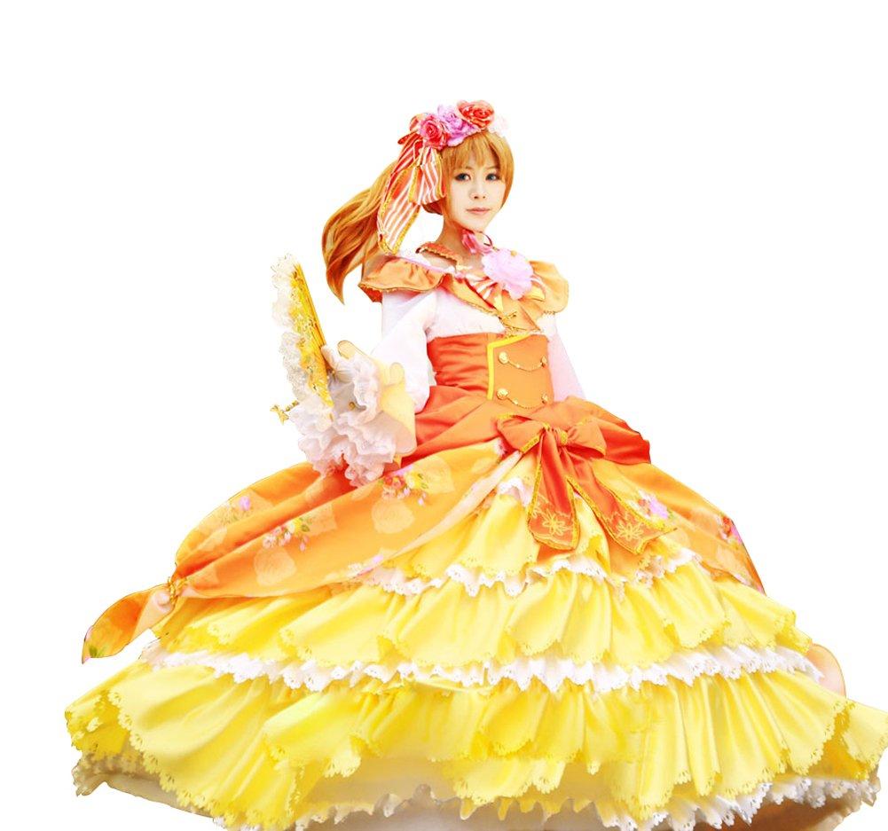 Mtxc Women's Love Live! Cosplay Honoka K¨saka Ball Dress SR Card Ver Size X-Large Yellow