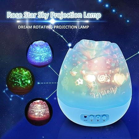 Decoracion Lámpara De Proyección Rose Star Sky, Proyector Night ...