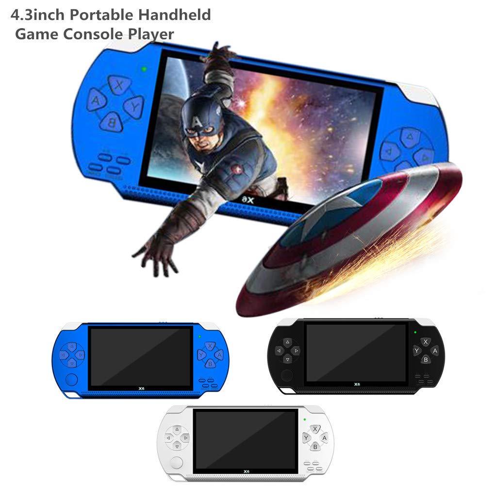 Matoen 4.3 Inch PSP Handheld Game Portable Video Handheld Game Console Player 10000 Games 32Bit 8GB Arcade X6 Hot (Blue) by Matoen (Image #2)