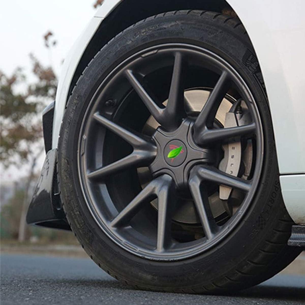 Hub Cover Hubcaps for Tesla Model 3 Center Caps Modification Kit Wheel Cap Kit Dark Gray