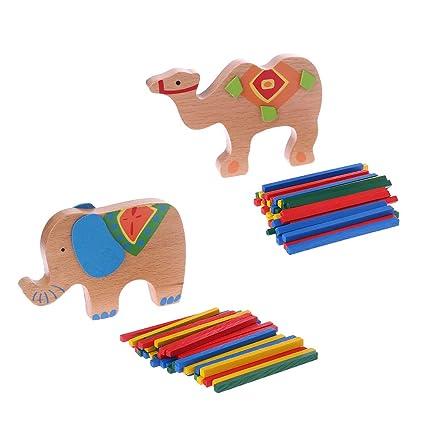 Dabixx Juguete Educativo, Elefante Camello Equilibrio Viga Juguete ...