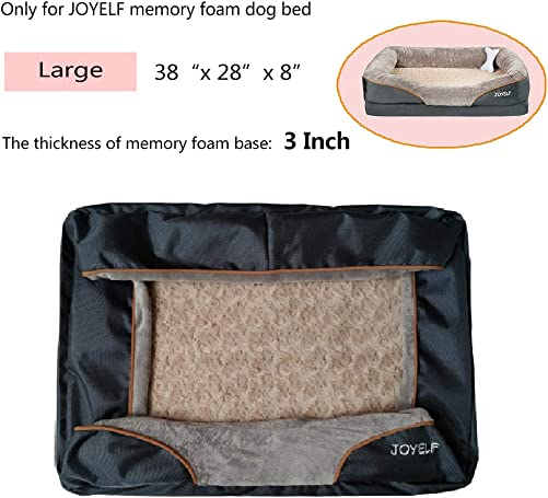JOYELF Memory Foam Dog Bed Replacement Cover