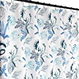Fabric Shower Curtains with Fish Regal Home Fabric Shower Curtain: Ocean Shells Fish Navy Blue Aqua White Design (Blue)