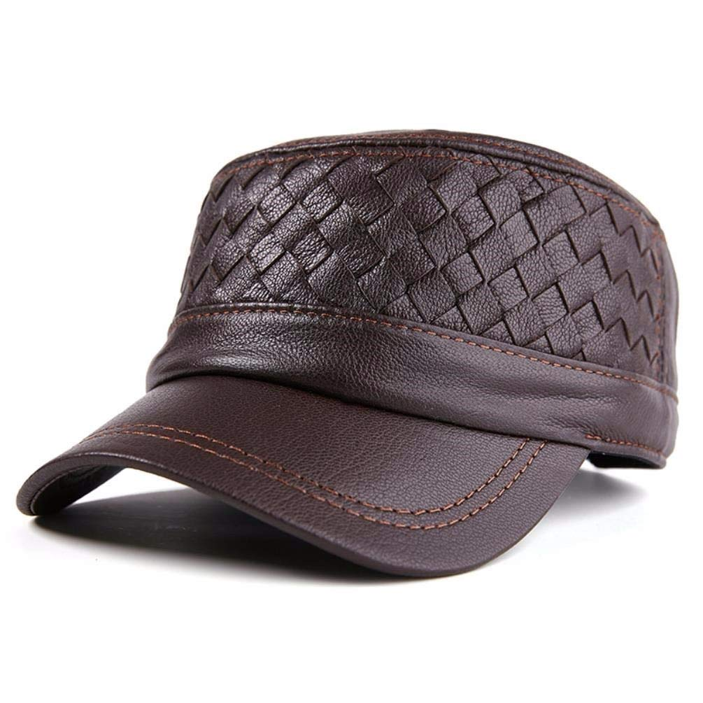 Thundertechs Women's Men's Spring and Autumn Flat hat Cap Casual Cap (Color : Brown, Size : One Size)