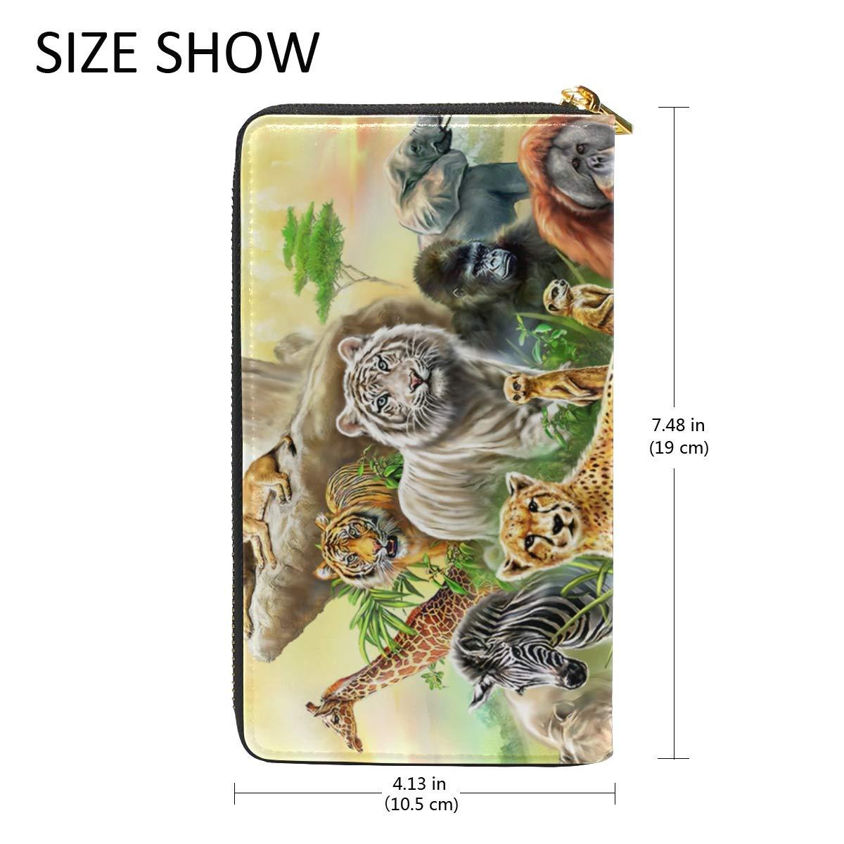 Amazon.com: 3D Animals Tiger Leapord - Monedero de piel ...