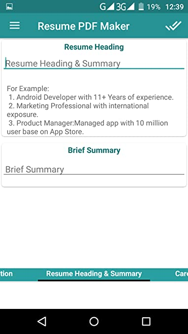 Amazon Com Cv Resume Pdf Maker Appstore For Android
