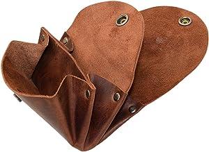 Hide & Drink, Leather Vintage Money Case/Bag/Pouch/Wallet/Change Holder/Card Organizer/Accessories, Handmade Includes 101 Year Warranty :: Bourbon Brown