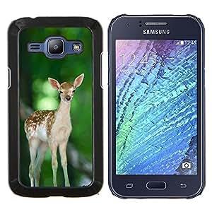 Jordan Colourful Shop - Cute Happy Fawn Deer For Samsung Galaxy J1 J100 J100H Personalizado negro cubierta de la caja de pl????stico