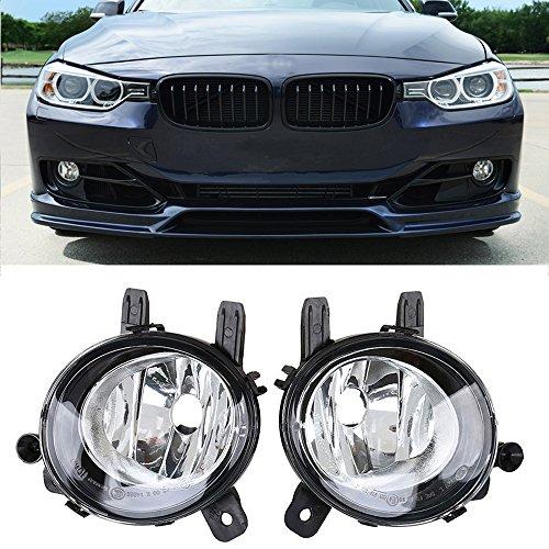 Ricoy Pair Clear Lens Fog Light Lamp Housing Without Bulb Fit For BMW F20 F22 F30 F32 F34 F36 228i 320i 328d(Pack of 2) (Pair)