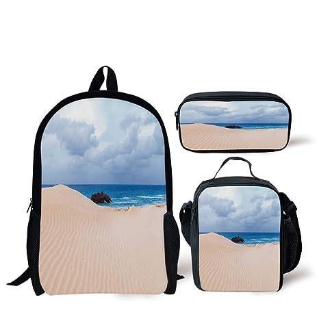 c71e0bf82c95 Amazon.com: School Lunch Pen Bags,Ocean Decor,Boat Crash by Exotic ...