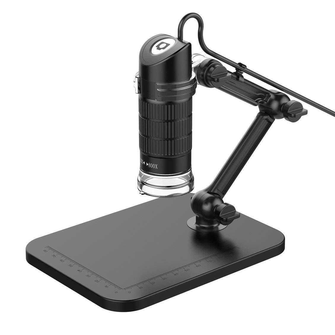 ForceSthrength Lumi/ère r/églable dexposition Automatique 8 LED de Microscope /électronique USB HD Digital