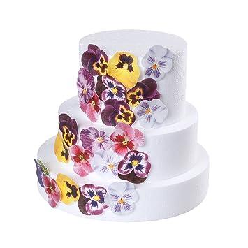 Georld 36pcs Edible Pansies Cupcake Toppers Cake Decoration Flat