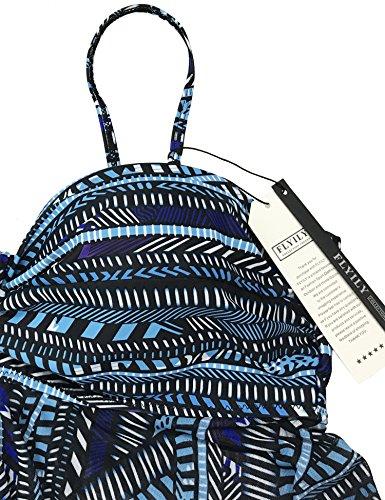 Pezzi Due Bikini Moda Bagno Donne Costumi Bluestripe Tankini Costume Da FLYILY 4q8B78