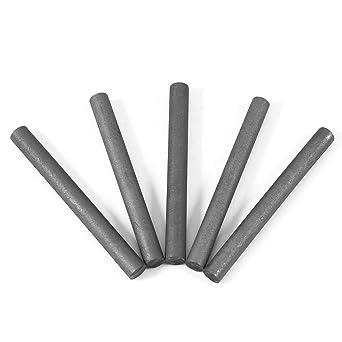 5Pcs Electrodo de Grafito 99,9% de Color Negro Barra de Cilindro (Longitud