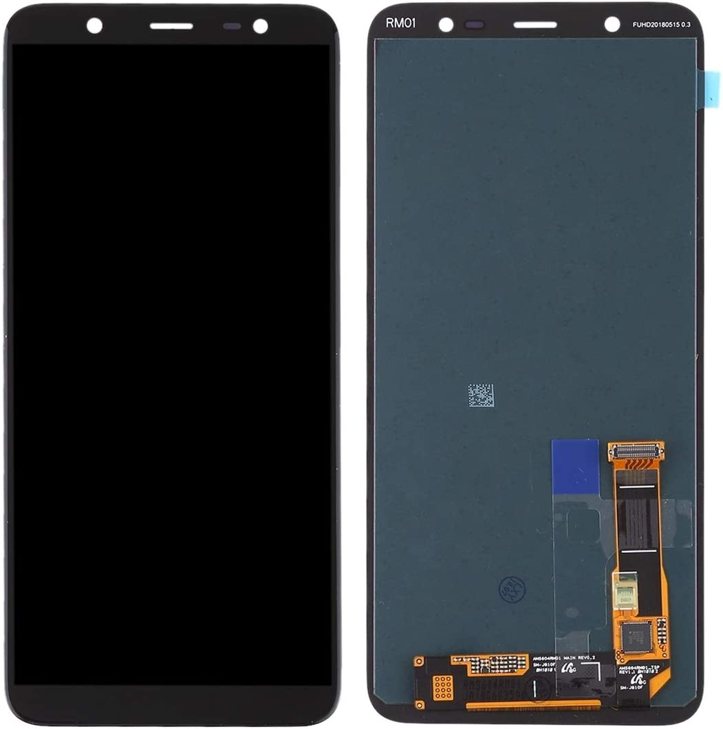 FURUMO 2018 Black Color : Black NA Replacement LCD Display +Touch Screen for Galaxy LCD Screen and Digitizer Full Assembly for Galaxy A6+ // A605