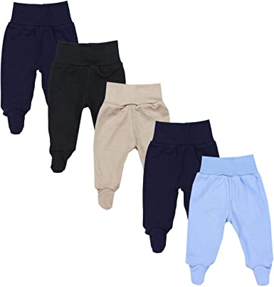 Pack of 5 TupTam Baby Trousers with Feet