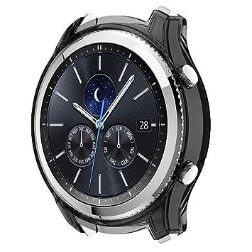 Bearbelly Funda Repuesto para Samsung Gear S3 Classic Smartwatch Protector Case Funda Moda Slim Colorido Marco Caso Cubierta Proteger Shell Carcasa ...