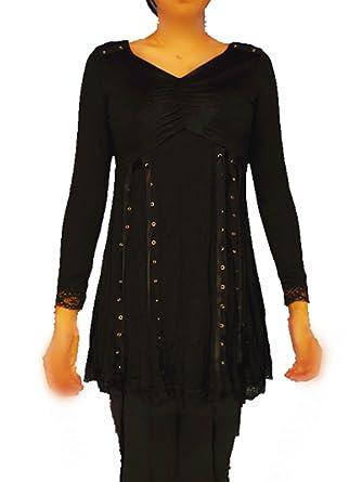 4282638b6a56 Beyond AV® Women s Victorian Gothic Renaissance Corset Top T-shirt (Tag 4XL  UK 18