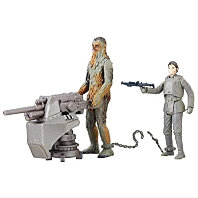Star Wars Chewbacca (Mimban) and Han Solo (Mimban) - Force Link 2.0 Action Figures: Toys & Games